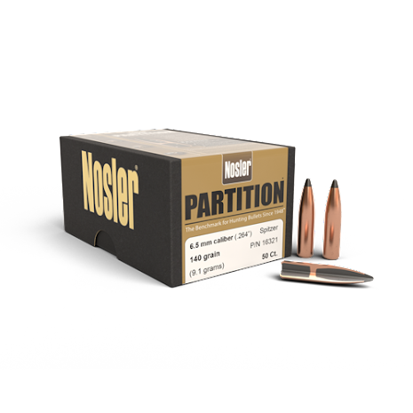 Nosler Partition 6,5mm/ .264 140gr 50st