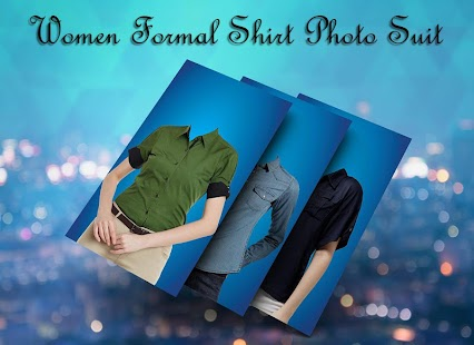 Women Formal Shirt Photo Suit - náhled