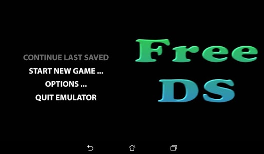 Free DS Emulator Screenshot