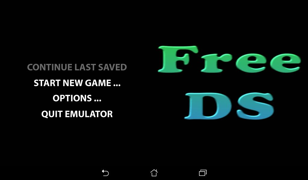 Free DS Emulator: captura de pantalla
