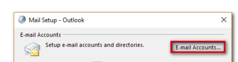 Click the E-mail Accounts... button.