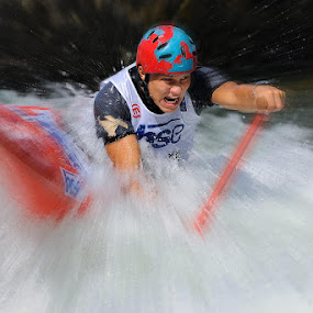 Whitewater canoe by Bostjan Pulko - Sports & Fitness Watersports ( world cup, slovenia, tacen, canoe, sava river )