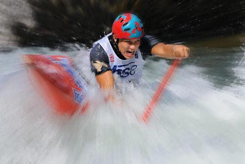 Whitewater canoe by Bostjan Pulko - Sports & Fitness Watersports ( world cup, slovenia, tacen, canoe, sava river )