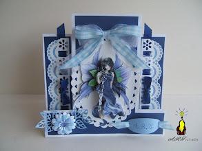 Photo: cARTe zig zag et sa fée bleue (3D à 10 couches) côtés à la Sissix