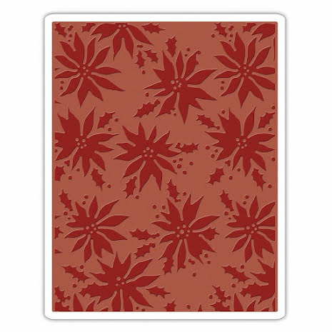 Tim Holtz Sizzix Texture Fades Embossing Folders - Poinsettias