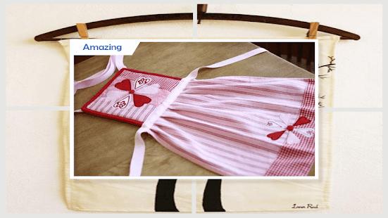 Unique DIY Valentine's Kitchen Towels - náhled