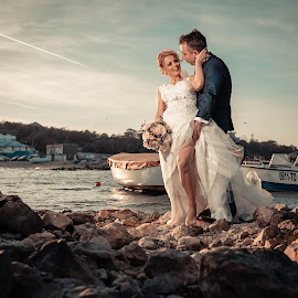 Anda&Dany by Doru Iachim - Wedding Bride & Groom ( bride, love, groom, wedding photography, wedding photographer, weddings, sunset )