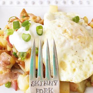 Skinny Loaded Potato Breakfast Skillet.