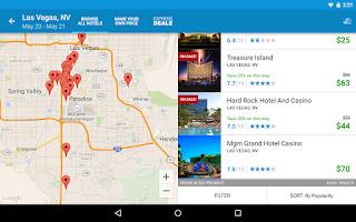 Screenshot of Priceline Hotels, Flight & Car