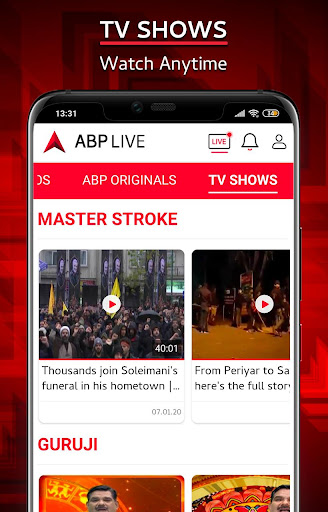ABP Live TV News - Latest Hindi, Breaking News APP 1.9 screenshots 5