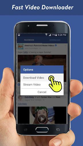 Faster Video Downloader for Facebook screenshots 2