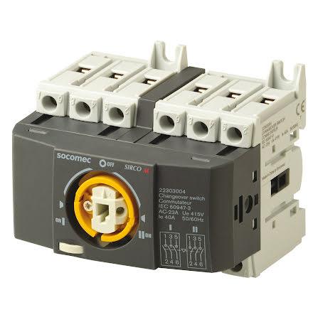 Reservkraftsomkopplare för DIN-skena, Changeover 3x40A