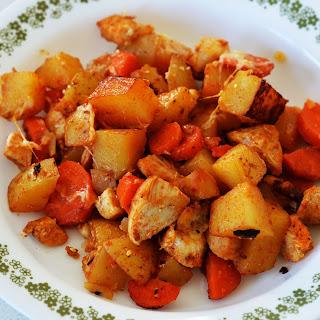 Loaded Potato and Chicken Casserole.