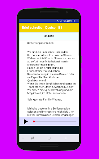 Brief schreiben Deutsch B1 2.1.1 screenshots 2