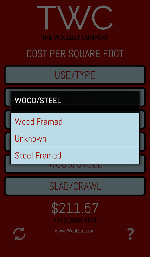 Cost Per Square Foot Android Apps On Google Play