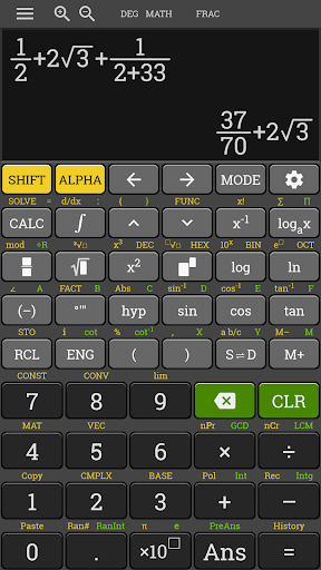 hp 35s fx Scientific Calculator 570 es plus free 4.0.8-23-06-2019-12-release screenshots 2