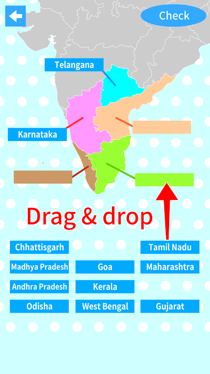 India States & Capitals Map Quiz - Geography Game – (Android ...