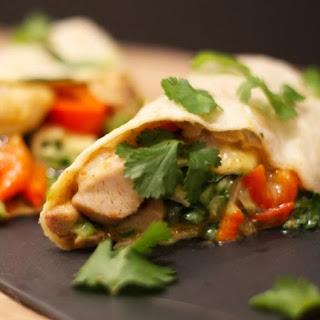 Weight Watchers Chicken, Cilantro, and Cucumber Wraps