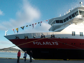 "Photo: In the afternoon we boarded our ship, the MS Polarlys (""Polar Light"")."