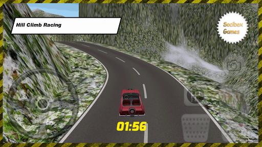 雪跑車爬坡