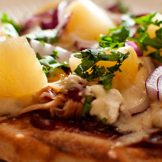 Cherry BBQ Pulled Pork Grilled Pizza.