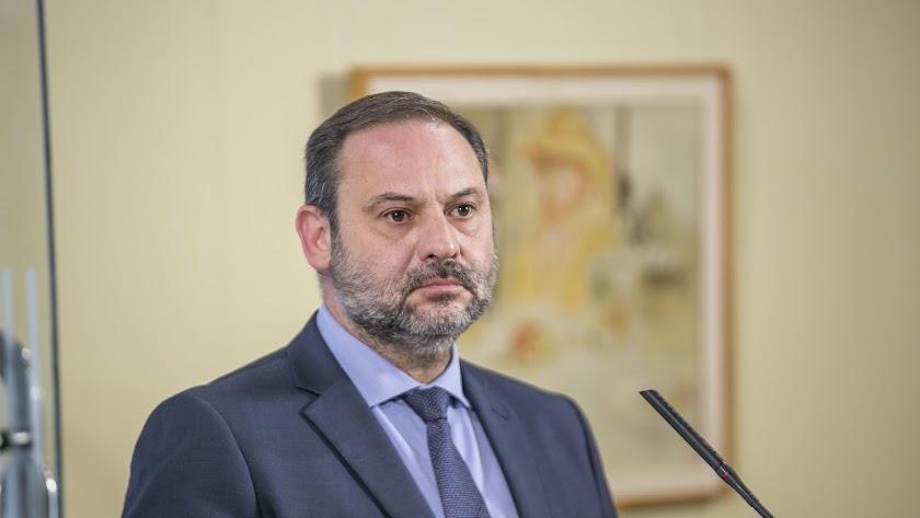El ministro Ábalos, ayer en Murcia.