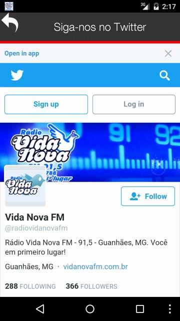 Rádio Vida Nova FM- screenshot
