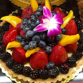 Strawberries, Berries and Mango Tart by Lope Piamonte Jr - Food & Drink Candy & Dessert