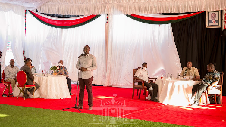Deputy President William Ruto making his remarks.