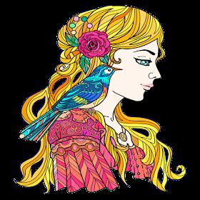 Мода девочек Раскраска