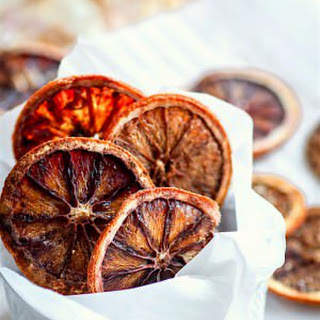 Lightly Sweetened Oven Dried Orange Slices.