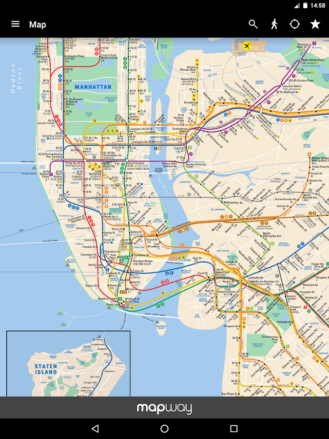 New York Subway MTA Map NYC Android Apps on Google Play – New York City Tourist Map PDF
