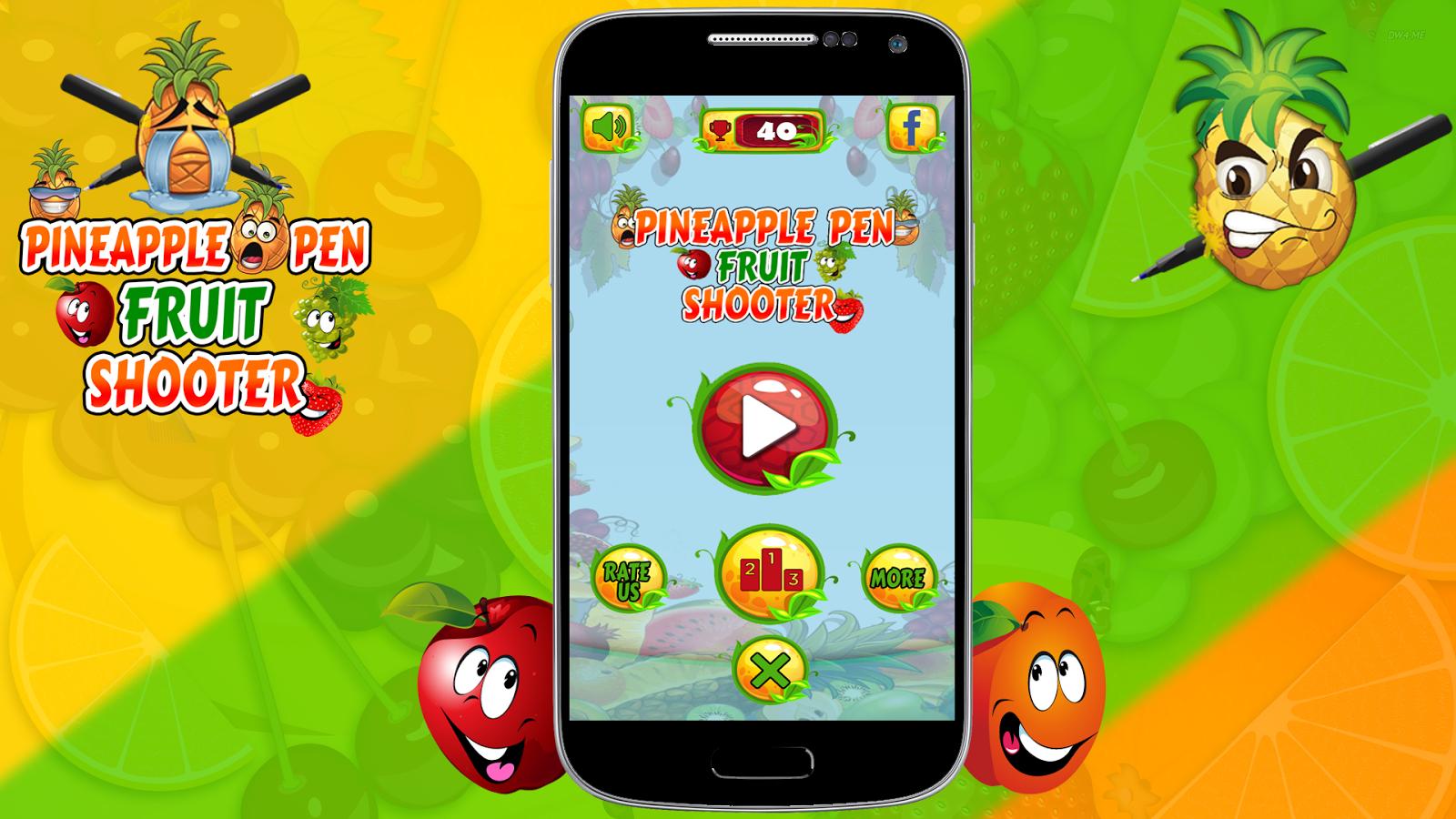 Fruit shooter games - Pineapple Pen Fruit Shooter 2d Screenshot