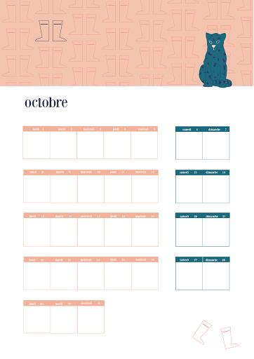 Calendrier 2018 - octobre