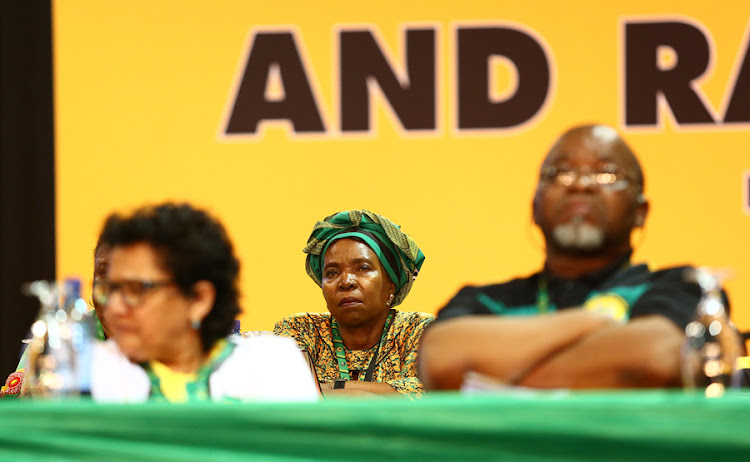 ANC presidential hopeful Dr Nkosazana Dlamini-Zuma in deep thought during the 54th ANC National Elective Conference held at Nasrec.