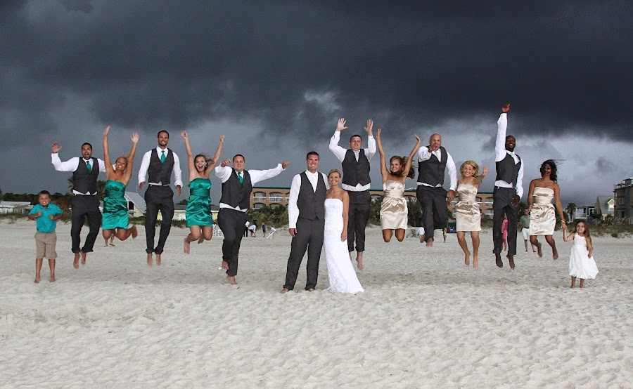 St. Augustine Beach Wedding by Lauri Andrews - Wedding Groups ( wedding, florida, beach, st. augustine, wedding party )