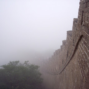 The Great Wall of China by Peter Murnieks - Buildings & Architecture Public & Historical ( great wall of china, wonders, great, fog, brick, trees, bricks, people, wall, china, wonders of the world, World, Beauty, Beautiful, Representing, Special, landmark, travel,  )
