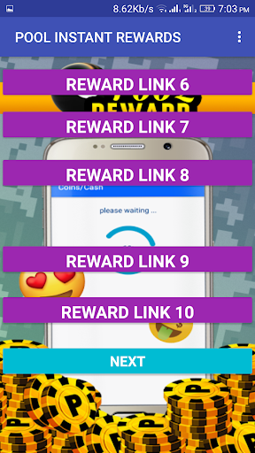 Pool Instant Rewards 2018 - coins and spins 1.1.5 {cheat|hack|gameplay|apk mod|resources generator} 3