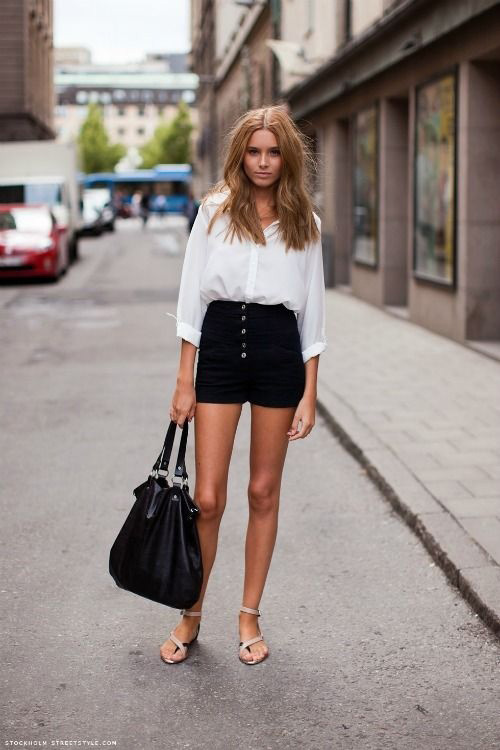 Como usar shorts de cintura alta: 20 Dicas de estilo 20