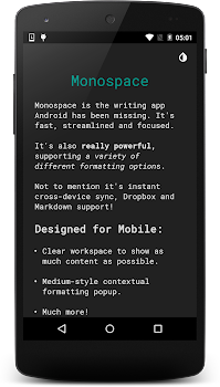 Monospace - Writing and Notes