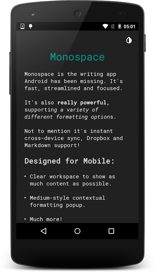 Monospace - Writing and Notes- screenshot