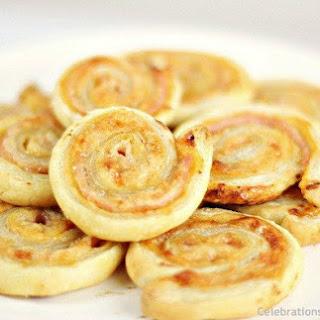 Ham & Cheese Puff Pastry Pinwheels.