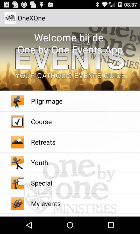 One by One Catholic Events App- screenshot