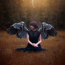 Golden by Chrystal Olivero - Digital Art People ( angel, wings, fine art photography, conceptual, golden, manipulation,  )