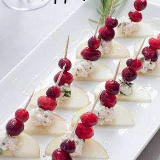 Cranberry Apple Vegan Cheese Appetizer.