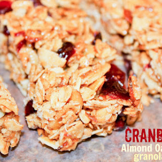 Cranberry Almond Oat Granola Bars