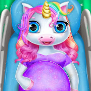 Pregnant Unicorn Mom And Baby Daycare