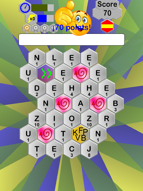 HexaWords- screenshot