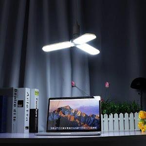 Lampa LED cu 3 brate mobile ajustabile, E27 6500K 45W, Alb Rece