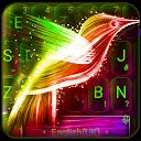 Neon Bird Keyboard Theme APK